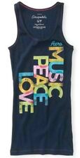 NEW Navy Aeropostale Aero Music Peace & Love Womens Ribbed Boy Tank Top Sz M L