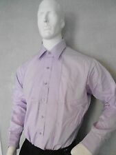 BOYS VINTAGE PLEATED TUXEDO SHIRT  LAYDOWN COLLAR / U.S. MADE /  PASTEL PURPLE