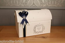 Personalised Crystal Snowflake Winter Wedding Chest Card Post Box Wishing Well