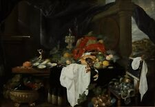 Pronk Still Life With Fruit Oyters Lobsters Andries Benedetti 1649to 85cm/34in s