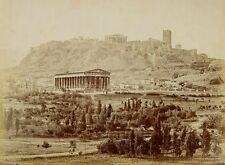 Photo Print Reproduction View Of Theseion With Acropolis Distance Moraites