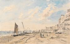 Brighton Beach Looking West John Constable Art Photo/Poster Repro Print Gifts