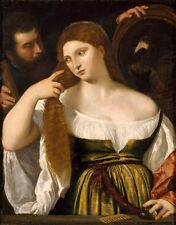 Girl Before Mirror Titian & Workshop 1515-Art Photo /Poster Repro Print Many S