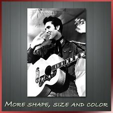 ' Elvis Presley King of Rock and Roll ' Music Pop Icon Wall Art Deco Box Canvas