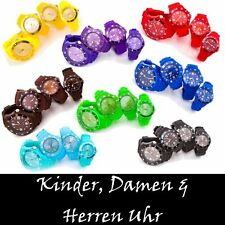 BUNTE SILIKON UHR KINDER DAMEN & HERREN WATCH ORIGINAL TREND HOT SZ ARMBANDUHR