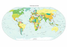 Brand New Poster Print - World Map (Political) (A3/A4)