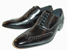 Brand New Mens Formal Dress Black Brogue design shoes in size 6,7,8,9 ,10,11,12