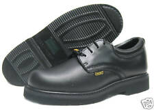 Rhino Mens 40C01 Oil Resistant Leather Work Saftey Shoes Oxfords [ Black ]