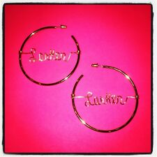 Personalized Handmade Wire Name Hoop Earrings Gold or Silver ANY Name Or Word