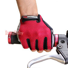 Red New Cycling Bike Bicycle Ultra-breathable Wearable Half Finger Glove M-XXL