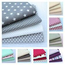 4 X FQ BUNDLE - CLASSIC CHIC - COTTON STRIPES AND DOTS FABRIC lots of colours