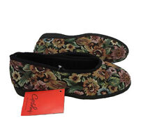 Ladies Slippers Grosby Carol Black Tapestry multi Size 5-11 new comfy slipper