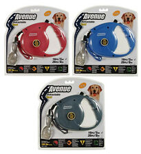 AVENUE RETRACTABLE DOG LEASH EXTRA LONG 8M LEAD - THICK SAFETY CORD - LARGE