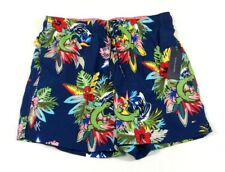 Tommy Hilfiger Navy Blue & Floral Swim Trunks Board Shorts Mens NWT