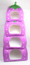 Soft Strawberry Pet Dog Bed House Kennel Cat Warm Cushion puppy Basket home bed