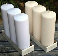 """3"""" x 9"""" Pillar Candles (Set of 3): Choose From 2 Colors"""
