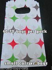 UNIQUE FASHION SMALL MULTI STARS CARRIER GIFT SWEET SHOP BAGS 60-70 PER PACK UK
