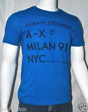 Armani Exchange A|X Mens Slim Muscle Fit Graphic Crew Neck Shirt S M