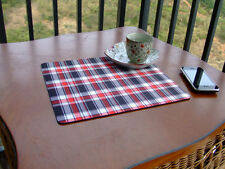 NEW PLAIDS MOUSE PAD PLACEMAT CHECK TABLE MAT MOUSE PAD MICE MAT