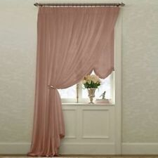 JCP Lisette Sheer Pinch Pleated Drapes CHOCOLATE TRUFFLE - COPPER SPICE  CRIMSON