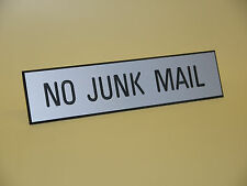 No Junk Mail - Engraved Sign