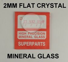 2mm watch glass crystal 30mm - 32mm flat mineral glasses crystals repairs part