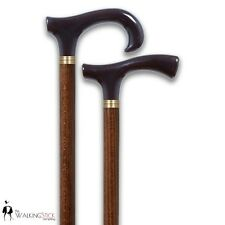 Wooden Walking Stick Cane 2 Handle Design Available Stunning Brown Classic Canes