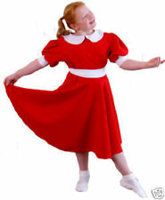 ORPHAN ANNIE RED LONG FANCY DRESS SHOW COSTUMES all large child sizes available