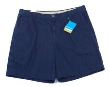 Columbia Navy Blue Ultimate ROC Shorts 100% Cotton Mens NWT