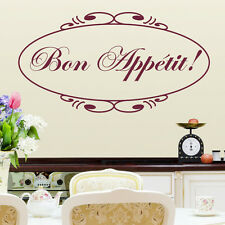 Bon Appetit! Kitchen Dining Room Wall Sticker Quote Wall Decal Vinyl Transfer