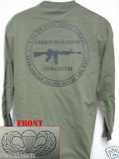 AIRBORNE LONG SLEEVE T-SHIRT/ AFGHANISTAN COMBAT OPS / MILITARY/   NEW