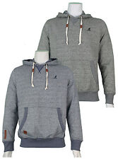 NEW MENS KANGOL DESIGNER BRANDED DRAWSTRING 2 TONE HOODED JUMPER TOP  - K606599