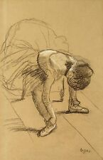 A4+ Size Print Degas Edgar Seated Dancer Adiusting Her Shoes #jwnh1265-1218