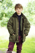 Children's Derby Tweed Quilted Field Country Jacket, Coat, Childs, Kids Youth