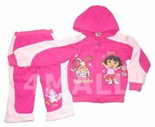 Girls Kids Dora the Explorer Winter Hoodie Jumper Tracksuit Pant Outfits Set