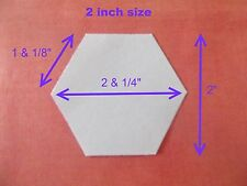 100 HEXAGON TEMPLATES FOR PATCHWORK ~PAPER~PERFECT FOR QUILTING ~ ALL SIZES.