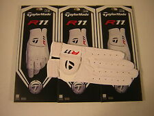 New TaylorMade R11 Men's Cabretta Leather Gloves 3-Pack Multiple Sizes