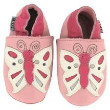 OXXY Baby Shoes Pink Leather Butterfly Girls Pre-Walking Infant Toddler