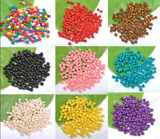 Wholesale Lots 1000pcs Wood Spacer Charms Beads Jewelry Make Findings 4X3MM