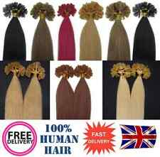 "200s Pre Bonded Nail Tip 100% Remy Human Hair Extensions 16"", Choose Colour"