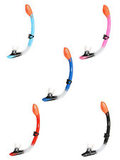 Two Bare Feet Dry Top Silicone Snorkel - Scuba Diving Snorkelling