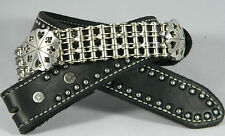 """Gambler"" Biker Chain Belt Leather and Authentic Motorcycle Primary Chain"