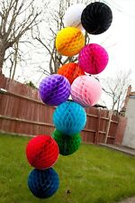"10"",12"" Honeycomb Ball Paper Lanterns Chic Party Wedding Table Decoration"