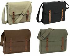 Vintage Military Style Medic Bag - Khaki, Black, Brown, OD -  Adjustable Strap