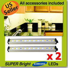 "2x 14"" Linkable LED Kitchen Cabinet Light Bar Strip EZ Connect KIT 3000K / 6500K"