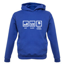 Eat Sleep Table Tennis Kids / Childrens Ping Pong Hoodie - 7 Colours XS-XXL