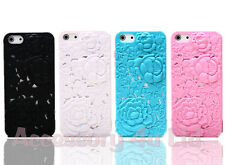 Rose Flower 3D Sculpture Hard Case Cover for iPhone 5 + Free Screen Protector