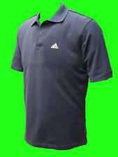 ADIDAS MENS POLO SHIRT NAVY BLUE TWO BUTTON BRAND NEW WITH TAGS