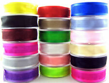 Double Sided Organza/Chiffon Ribbon with Satin Edge - 10mm/15mm/25mm - Free 1st