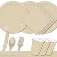 Ivory Tableware Party Table Cover Napkins Cups Party Cutlery Plates PS